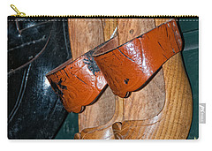 Carry-all Pouch featuring the digital art Wooden Shoe Sandals by Carol Ailles