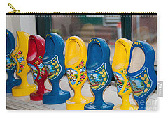 Carry-all Pouch featuring the digital art Wooden Shoes by Carol Ailles