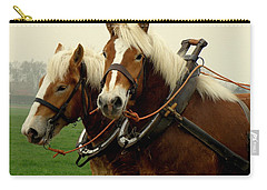 Carry-all Pouch featuring the photograph Work Horses by Lainie Wrightson
