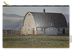 Carry-all Pouch featuring the photograph Wrapped Barn by Mick Anderson