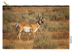Wyoming Pronghorn Carry-all Pouch by Ronald Lutz