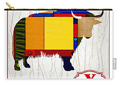 Y Is For Yak Carry-all Pouch by Elaine Plesser