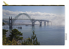 Carry-all Pouch featuring the photograph Yaquina Bay Bridge by Mick Anderson