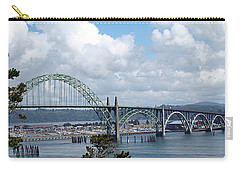 Yaquina Bay Bridge Carry-all Pouch by Nick Kloepping
