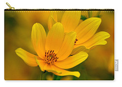 Carry-all Pouch featuring the photograph Yellow Blaze by Marty Koch