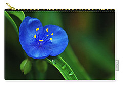 Yellow Blue And Raindrops Carry-all Pouch