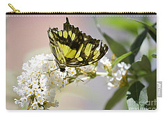 Yellow Butterfly Beauty Carry-all Pouch by Andrea Hazel Ihlefeld