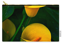 Yellow Calla Lilies Carry-all Pouch by Byron Varvarigos