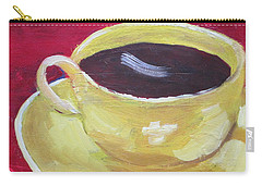 Yellow Cup On Red Carry-all Pouch