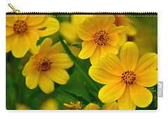 Carry-all Pouch featuring the photograph Yellow Flowers by Marty Koch