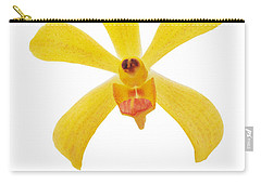 Carry-all Pouch featuring the photograph Yellow Orchid by Atiketta Sangasaeng