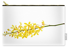 Yellow Orchid Bunch Carry-all Pouch by Atiketta Sangasaeng