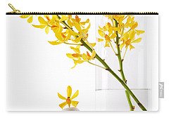 Carry-all Pouch featuring the photograph Yellow Orchid Bunchs by Atiketta Sangasaeng