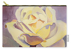 Yellow Rose-1-posthumously Presented Paintings Of Sachi Spohn  Carry-all Pouch
