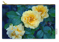 Carry-all Pouch featuring the photograph Yellow Roses by Rodney Campbell