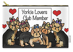 Yorkie Lovers Club Member Carry-all Pouch