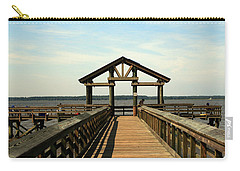 Yorktown Pier Carry-all Pouch by Karen Harrison