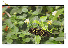 Carry-all Pouch featuring the photograph Zebra Butterfly by Marianne Campolongo