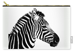 Carry-all Pouch featuring the photograph Zebra by Rebecca Margraf