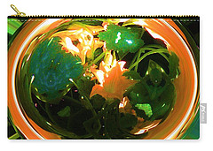 Carry-all Pouch featuring the photograph Zucchini Flowers Under Glass by George Pedro