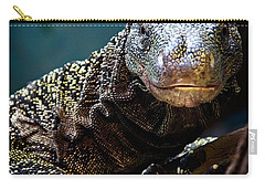 A Crocodile Monitor Portrait Carry-all Pouch by Lana Trussell