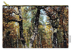 Autumn In Forest Carry-all Pouch by Henryk Gorecki