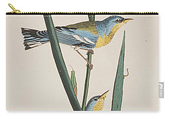 Blue Yellow-backed Warbler Carry-all Pouch by John James Audubon