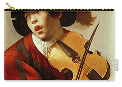Boy Playing Stringed Instrument And Singing Carry-all Pouch
