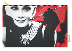 - Breakfast At Tiffannys -  Carry-all Pouch by Luis Ludzska