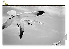 Chaos - Seagulls Black And White Carry-all Pouch