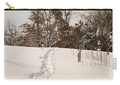 Christmas Snow Trail Carry-all Pouch