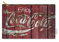 Coca Cola Sign Barn Wood Carry-all Pouch