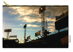 Carry-all Pouch featuring the photograph  Fenway Lights Fenway Park David Pucciarelli  by Iconic Images Art Gallery David Pucciarelli