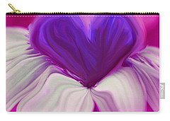 Carry-all Pouch featuring the photograph  Flower Heart by Linda Sannuti