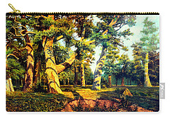 Green Summer-the Oak Forest Carry-all Pouch by Henryk Gorecki