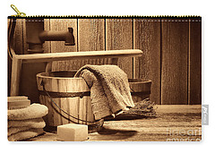Laundry At The Ranch Carry-all Pouch by American West Legend By Olivier Le Queinec