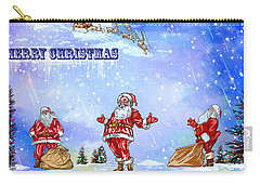 Carry-all Pouch featuring the painting  Merry Christmas To My Friends In The Faa by Andrzej Szczerski