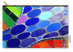 Mosaic Abstract Of The Blue Green Red Orange Stones Carry-all Pouch by Michael Hoard