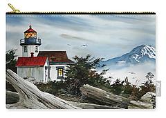 Point Robinson Lighthouse And Mt. Rainier Carry-all Pouch