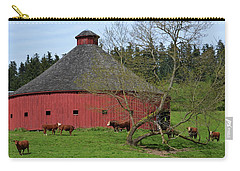 Round Red Barn Carry-all Pouch