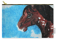 Carry-all Pouch featuring the painting  Spirit Of The Appaloosa by Amy Gallagher