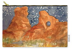 Starry Night In The Desert Carry-all Pouch