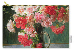 Still Life Of Carnations   Carry-all Pouch by Emile Vernon
