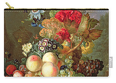 Still Life With Auriculus  Carry-all Pouch by Gerrit Van Leeuwen