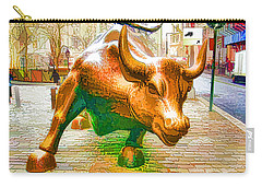 The Landmark Charging Bull In Lower Manhattan  Carry-all Pouch
