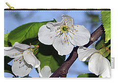 Carry-all Pouch featuring the photograph  Tree Blossoms by Elvira Ladocki