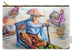 Women On Jukung Carry-all Pouch