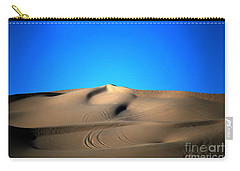 Yuma Dunes Number One Bright Blue And Tan Carry-all Pouch