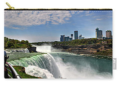 004 Niagara Falls  Carry-all Pouch by Michael Frank Jr