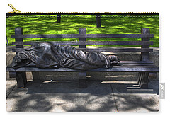 02 Homeless Jesus By Timothy P Schmalz Carry-all Pouch by Michael Frank Jr
